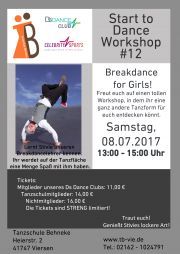 Tickets für Start to Dance Workshop #12 am 08.07.2017 - Karten kaufen